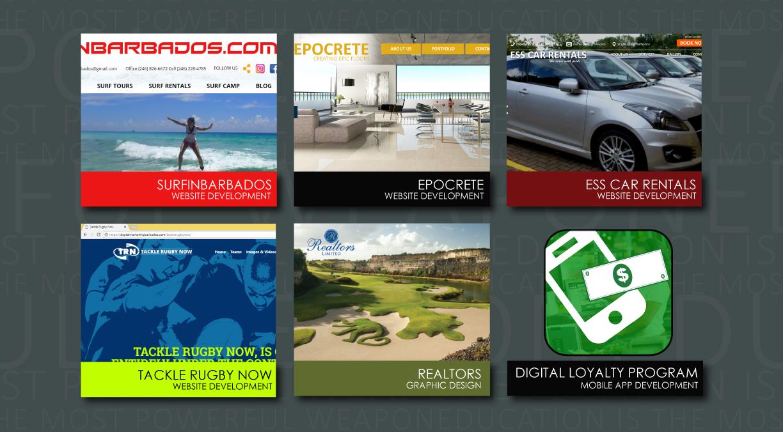 Digital Marketing Barbados portfolio website design